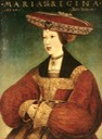1520 Queen Mary of Austria wearing caul and hat by Hans Maler zu Schwaz (location ?) From bjws.blogspot.com:2015:10:1500s-women-of-hungary-bohemia.html
