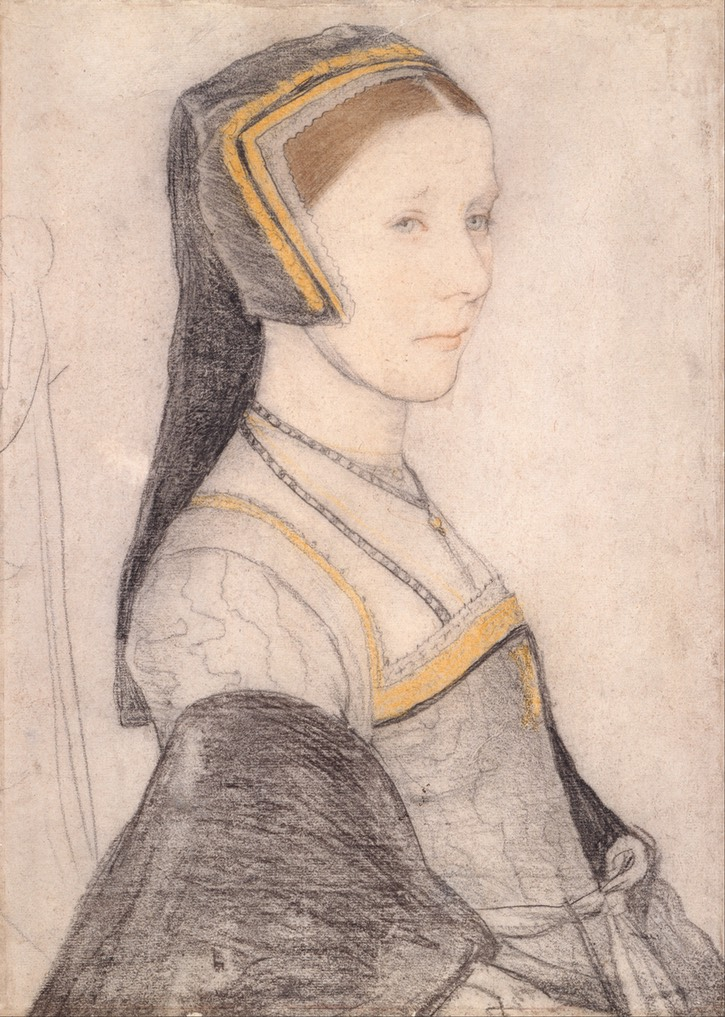 1526-1527 (some time) Anne Cresacre by Hans Holbein the Younger (Royal Collection) From the Google Art Project via Wm