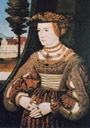 1529-1530 Susanna of Bavaria, Margravine of Brandenburg-Bayreuth by Peter Gertner (Schlossmuseum Berchtesgaden - Berchtesgaden, Bayern, Germany) From jeannedepompadour.blogspot.com:2013:04:german-style-from-1468-1588.html trimmed