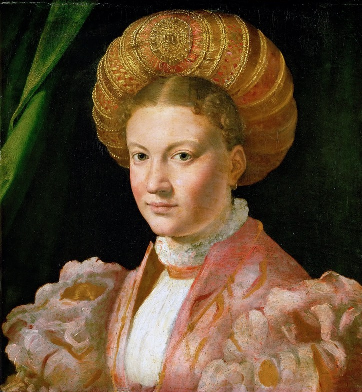 1530 Young woman, possibly Countess Gozzadini by Girolamo Parmigianino (Kunsthistorisches Museum - Wien, Austria)  Wm