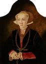1530s Anne as princess of Cleves, attributed to Barthel Bruyn the Elder (Trinity College, Cambridge UK)