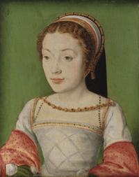 1530s Renee de Valois, Duchesse de Ferrara (1510-1547) daughter of Louis XII of France and Anne of Brittany by Corneille de Lyon (location ?) From jeannedepompadour.blogspot.com:2012:09:valois-women-of-valois-duchess-of.html