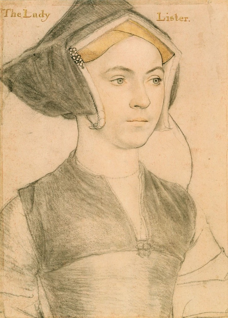 1532-1543 (some time) Jane, Lady Lister by Hans Holbein the Younger (Royal Collection) Wm