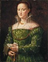 "1540 Florentine noblewoman possibly by Agnolo di Cosimo (""Bronzino"") (San Diego Museum of Art, San Diego California)"