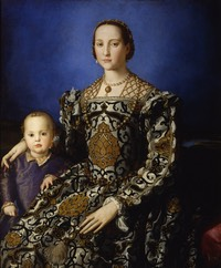 1544 through 1545 Eleonora di Toledo col figlio Giovanni (Galleria degli Uffizi - Firenze, Toscana Italy) From Google Art Project