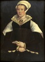 1545-1549 Mary Nevill Fiennes, Lady Dacre by ? (Wrest Park Portrait) (Dunham Massey Hall - Dunham Massey, Borough of Trafford, Greater Manchester UK)