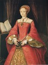 ca. 1546 Elizabeth I when Princess by William Scrots (?) (Royal Collection)