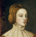 1548 Empress Isabel by Titian (Prado) coiffure and ruff