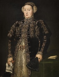 1552-1553 Catherine of Hapsburg, wife of King John III of Portugal, by Anthonis Mor (Museo del Prado - Madrid, Spain) From liveinternet.ru:users:leon meusi:post424184538: