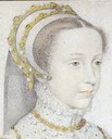1552 or 1555 Mary Stuart as a girl by Francois Clouet (unknown location) head