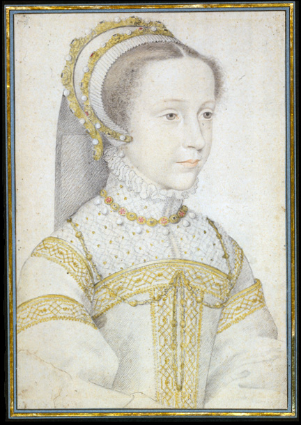 1552 or 1555 Mary Stuart as a girl by François Clouet (unknown location)