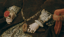 1554 Mary Tudor, Queen of England, second wife of Felipe II by Anthonis Mor (Museo Nacional del Prado - Madrid Spain) bracelets, girdle, and sleeves