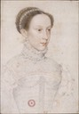 ca. 1558 Mary Stuart by Adolphe Pierre Riffaut, after François Clouet (National Portrait Gallery, London)