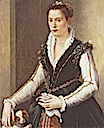1560s early Isabella de' Medici Orsini with a dog by Alessandro Allori (private collection)