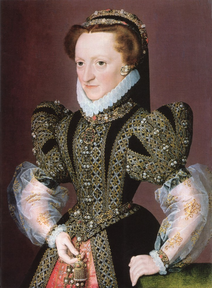 1568-1572 Lady identified as Christina of Denmark, Dowager-Duchess of Milan and Lorraine by monogramist G. E. C. (Weiss) Wm