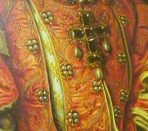 ca. 1568 Elisabeth de Valois by Anthonis Mor (Louvre?) jewels
