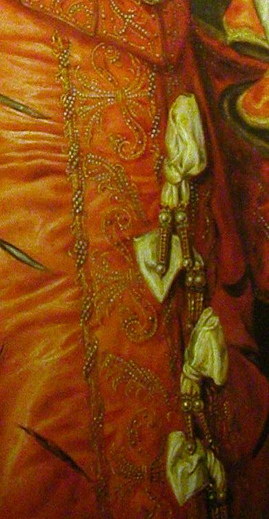 ca. 1568 Elisabeth de Valois by Anthonis Mor (Louvre?) skirt