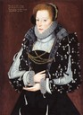 1570-1575 (between) Lady, thought to be Isabel Biddulph, née Gifford by George Gower (location ?) Wm