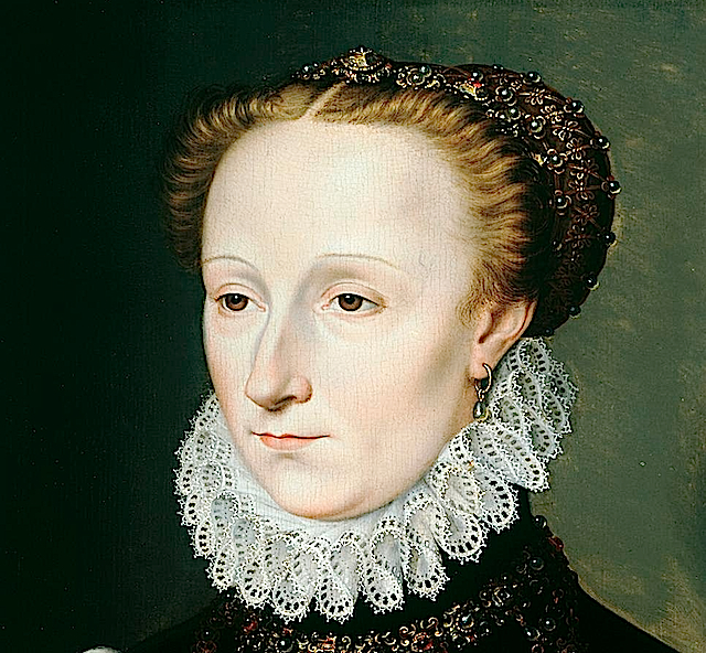 1570 Madeleine le Clerc du Tremblay by Clouet (Weiss Gallery, sold - current location unknown to gogm) headdress and ruff