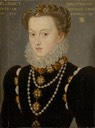 1571 (after) Elizabeth of Austria, Wife of King Charles IX of France by follower of François Clouet (Art Institute of Chicago - Chicago, Illinois, USA)