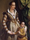 1574 Isabella de Medici-Orsini with her son Virginio by Alessandro Allori (location ?) Wm
