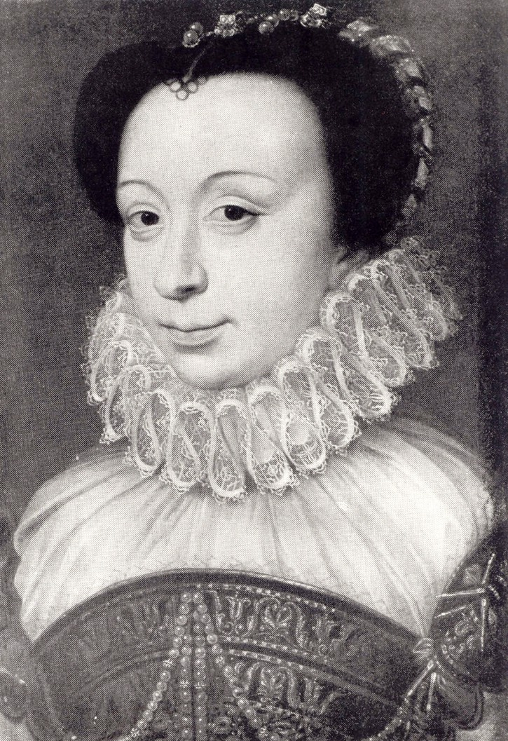 1575 French Lady, Renée de France by François Clouet (looted from Poland by Nazis) Wm