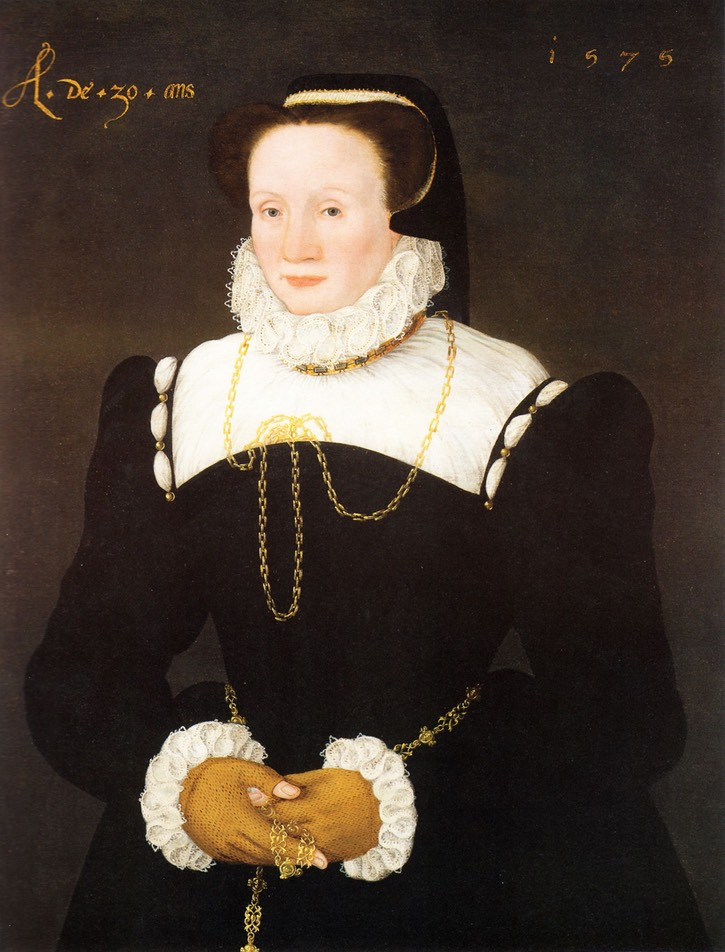1575 Mary Tresham, Lady Vaux of Harrowden (1545-1597) by circle of Cornelis Ketel (location ?) From pinterest.com/ben007tids/tudors/.jpg