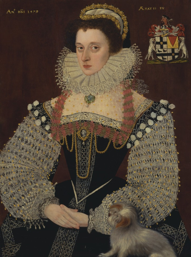 1579 Lady thought to be Dorothy Bray, Baroness Chandos by John Bettes the Younger (Yale Center for British Art - New Haven, Connecticut, USA) Google Art Project vis Wm