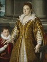 1580-1614 Grand Duchess Bianca Capello de Medici with Her Son by Lavinia Fontana (Dallas Museum of Art - Dallas Texas)