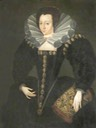 1590 A Lady in Court Dress by Marcus Gheeraerts the younger (location unknown to gogm)