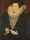 1590 Anne Carew (1520–1587), Lady Throckmorton, Aged 53 by Hieronymus Custodis (Coughton Court - Alcester, Warwickshire, UK) From bbc.co filled shadows deflaw