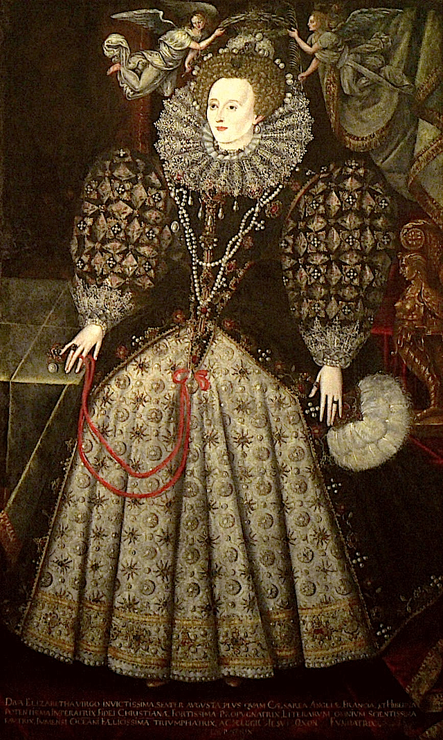 1590ca. Elizabeth attributed to Nicholas Hilliard (Jesus College of Oxford University)