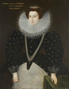 1590s Cicely, Lady Buckhurst, Countess of Dorset attributed to Hieronymus Custodis (Abbot Hall Art Gallery - Kirkland, Kendal, Cumbria, UK) From bbc.co via pinterest.com/lizluther/16th-century-english-costume/.png