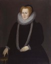 1592 Bess Hardwicke,Countess of Shrewsbury by Rowland Lockey (National Portrait Gallery - London UK)