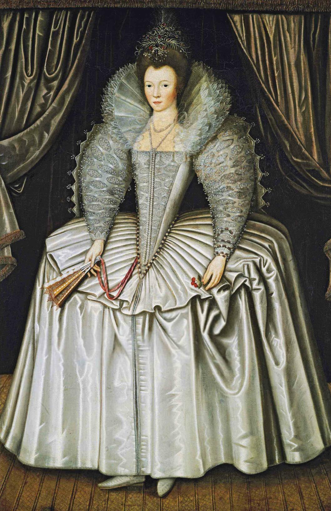 1595 1605 Lady Identified As Elizabeth Howard Daughter