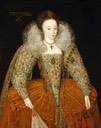 1595 Lady Eleanor Percy (1582/1583–1650), afterwards Lady Powis, age 13, by ? (Powis Castle - Welshpool, Powys, UK)