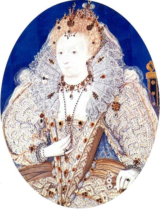 1595-1600 Elizabeth by Nicholas Hilliard (Ham House, Ham UK)