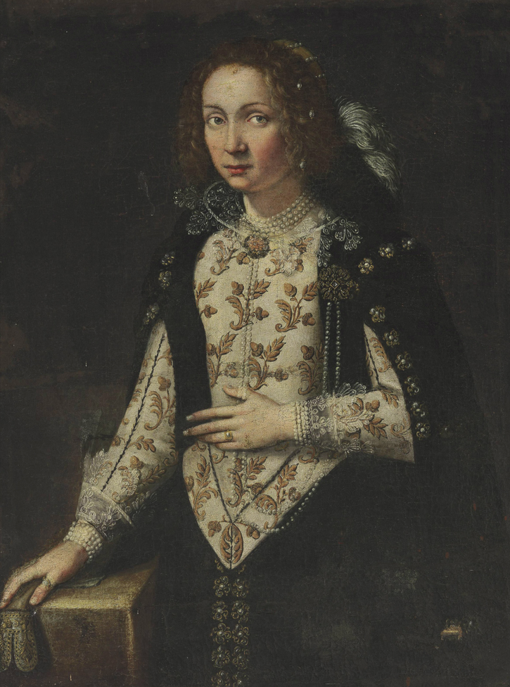 1600 Lady, possibly of the Della Rovere family by ? (auctioned by Christie's) unrestored