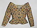 1600-1625 British linen, embroidered with silk and metal thread, and spangles jacket (Victoria and Albert Museum - London UK)
