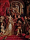 1600 Marie de Medici wedding by Peter Paul Rubens - painted 1622-1625 (Louvre)