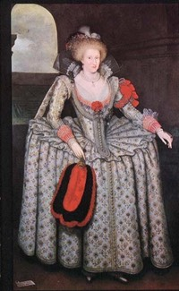 1605-1610 Anne of Denmark by Marcus Gheeraerts the Younger (Woburn Abbey - Woburn, Bedfordshire UK)