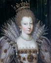 1605-1610 Princess Louise Marguerite de Lorraine, duchesse de Conti by ? (Musée Condé - Chantilly, Picardie, France) Wm UPGRADE