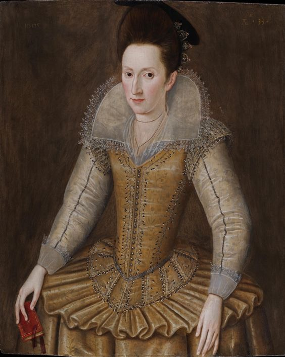 1605 Mary Senhouse attributed to Robert Peake (Weiss Gallery) From pinterest.com:jkrystyna82:16th-17th-century-rebatos-standing-collars: