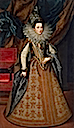 1608 Margaret Savoia, Duchess of Mantua, by Frans Pourbus the Younger (Hermitage)