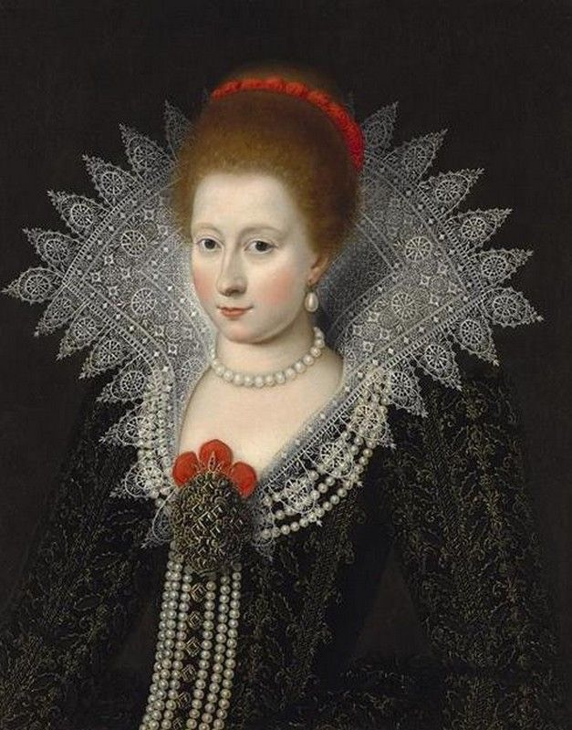 1610 Charlotte Marguerite de Montmorency by circle of Daniel Dumonstier (sold by the Weiss Gallery - London UK) UPGRADE From pinterest.com:catrienv:art: