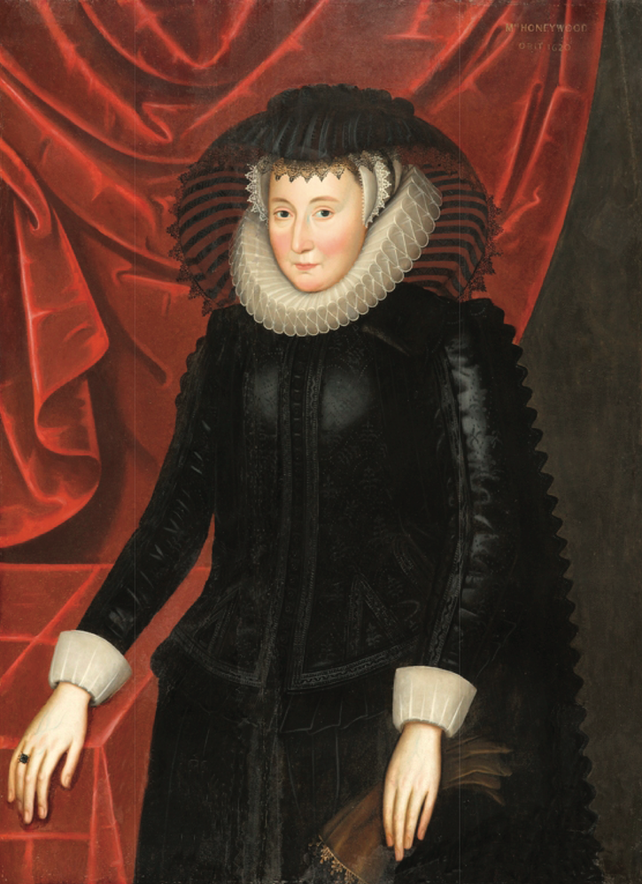 1610 Lady Mary Waters Honeywood, née Attwater, (1527-1620) attributed to Cornelis Johnson van Ceulen (North Carolina Museum of Art - Raleigh, North Carolina, USA) From museum's Web site deflaw