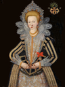 1612-1624  Margareta Grip (1586-1624), married in 1612 with Field Marshal Herman Wrangel in his first marriage by ? (Skoklosters slott -Stockholm, Sweden) Wm background made uniform shadows