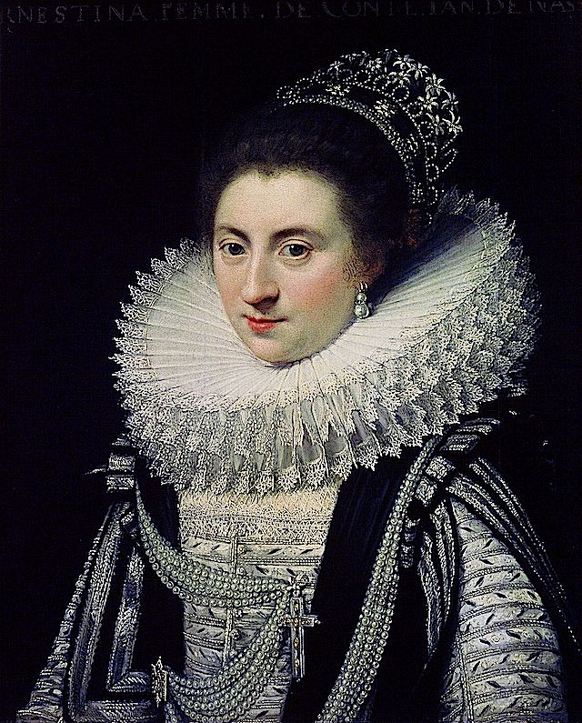 1615-1625 Ernestine Yolande (1594-1663), Princess of Ligne by Jan Anthonisz. Van Ravesteyn (Mauritshuis - Den Haag Netherlands)