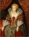 1619 Maria Eleonora of Brandenburg, Queen of Sweden by ? (Nationalmuseum - Stockholm, Sweden)