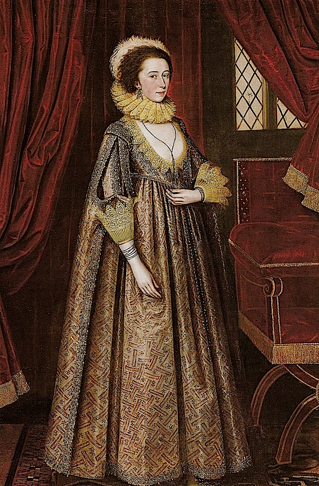 1620 Magdalen Pultney, later Lady Aston by Gheeraerts
